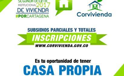 Del 1 al 7 de diciembre, inscripción de oferta institucional 'Por Cartagena'