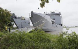Buque ARC Golfo de Morrosquillo, con capacidad para evacuar a 400 personas, desde hoy está disponible en el puerto de Achí