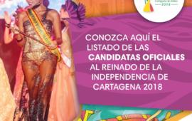 Conozca las candidatas oficiales al Reinado de Independencia 2018