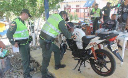 Policía realiza operativos para prevenir hurtos de motos