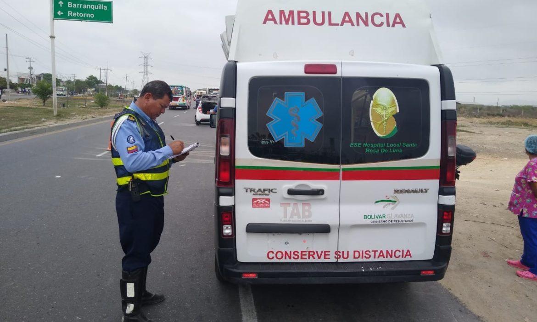 Inmovilizada ambulancia por no tener seguro obligatorio