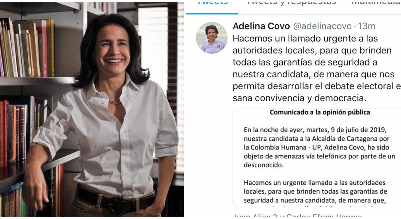 Amenazan a la candidata del petrismo a la Alcaldía de Cartagena