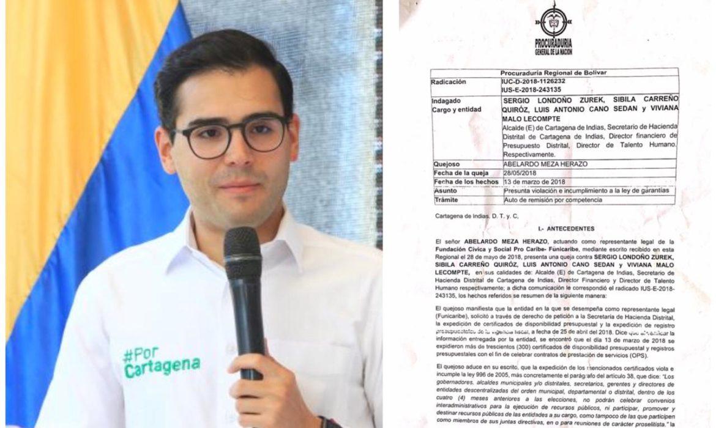 Exalcalde Sergio Londoño investigado por contratar 300 OPS en Ley de Garantías