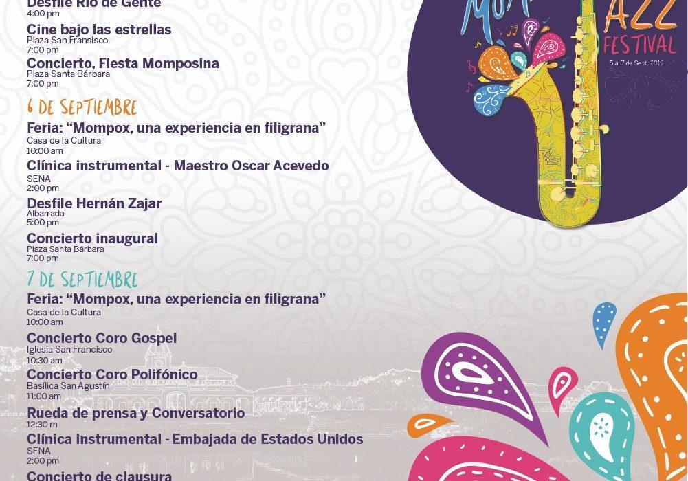 La programación del Festival de Jazz de Mompox, llega cargada de riqueza cultural para locales y visitantes