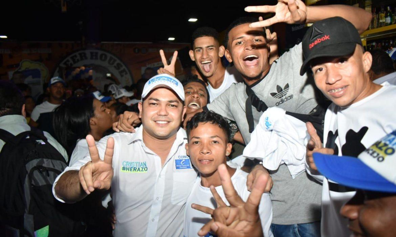 Jóvenes de las tres localidades se sumaron a 'El reto por Cartagena' de Cristian Herazo