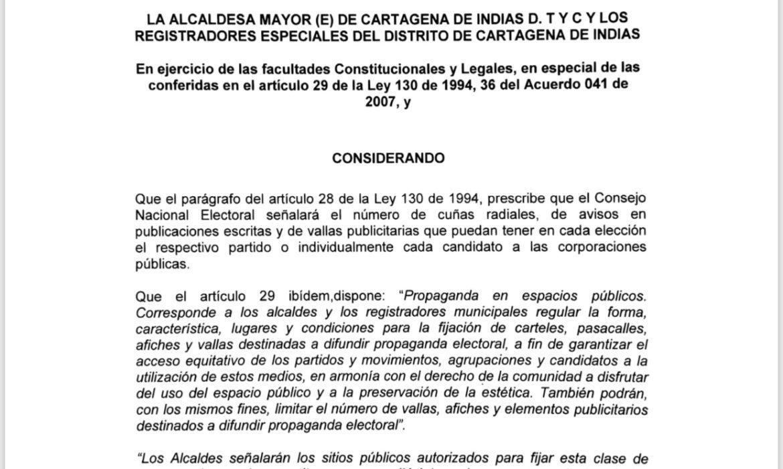 Distrito reglamenta propaganda para las elecciones locales del 27 de octubre