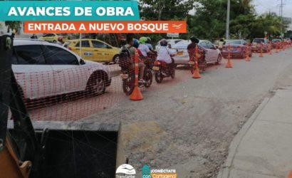 Iniciaron obras de rehabilitación en la carrera 17 del barrio Canapote y en Nuevo Bosque