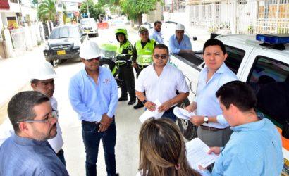 Viceministro de Transporte, Juan Camilo Ostos, recorre obras de rehabilitación de rutas precarga y Centro de Control de Operaciones de Transcaribe